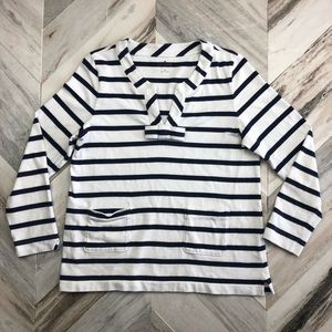 Kate Spade Striped Pull Over Sweatshirt Size XL